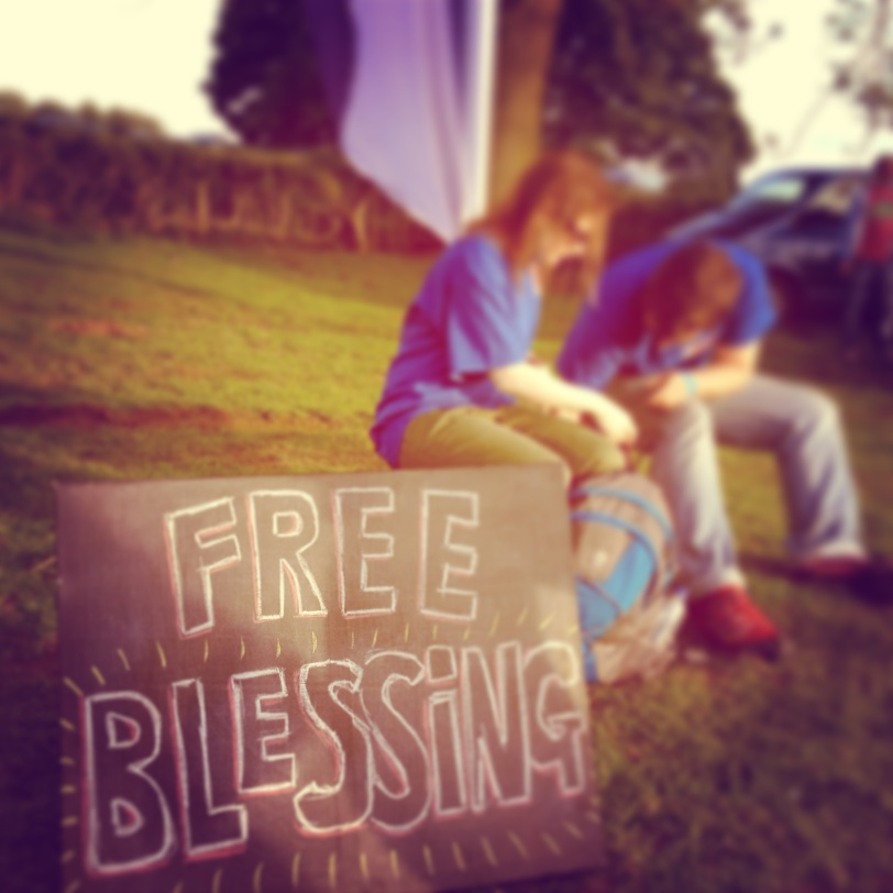 Simple sign= people asked for 'blessing'