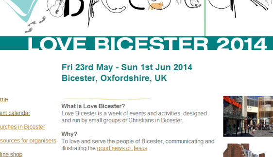 Love Bicester web site
